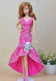 cheap barbie doll clothes pink aliexpress