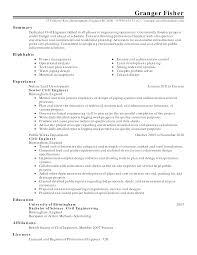 Sample Resume For Chemical Engineer by Engineering Civil Engineering Resume Templates