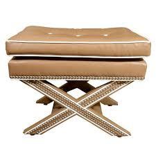 safavieh palmer x bench nailhead beige ottoman