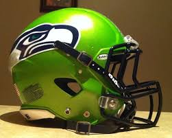 seattle seahawks custom metallic lime green riddell revo speed