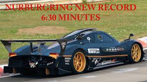 pagani zonda revolucion pagani zonda revolucion 6 30 min new nurburgring record crazy lap