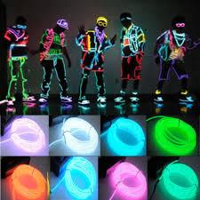 1pcs 3m 10 colors el wire tube battery powered flexible neon