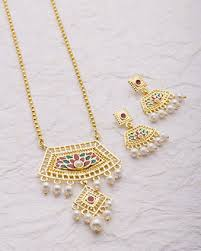 gold jewellery necklace sets images Buy necklace sets silver gold plated cz pearl necklace sets jpg