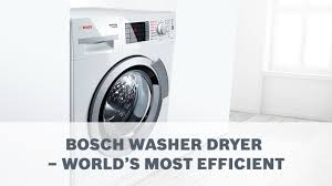 Bosch Clothes Dryers Bosch Washer Dryer World U0027s Most Efficient Washer Dryer Youtube