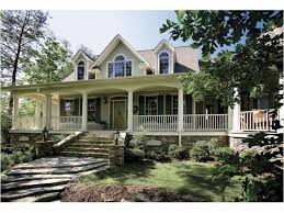 Farmhouse With Wrap Around Porch Best 25 Country House Plans Ideas On Pinterest Country Style