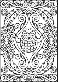 199 best coloring pages owls images on pinterest drawings