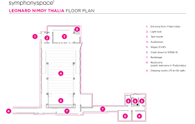 theater floor plan symphony space
