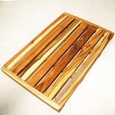 Bath Mat Wood Teak Wood Spa And Bath Mat Kan Thai Decor