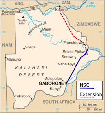 Botswana Map North South Carrier Wikipedia