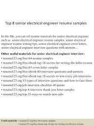 Electrical Engineer Sample Resume Engineer Resume Examples Choose Sample Resume Engineering