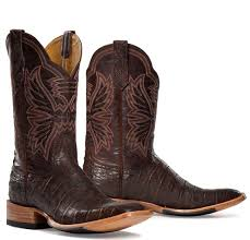 womens cowboy boots uk cinch brown caiman boot for