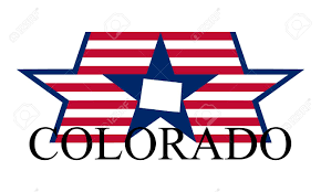 Colorado State Map by Colorado State Map Flag Seal And Name Royalty Free Cliparts