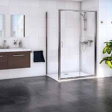 aqualux shine sliding shower door 1160423 1200mm polished clear