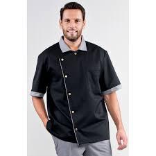veste de cuisine noir veste de cuisine homme noir garni chambray noir leo rozen