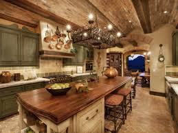 tuscan kitchen sage cabinets brick ceiling tuscan tuscan design