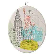new york city ceramic ornament keepsake ornaments hallmark
