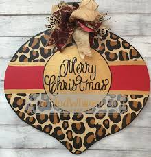 door hanger leopard print ornament by sparkledwhimsy