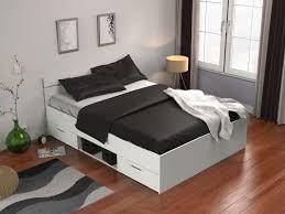 letto cassetti letto gaspard con cassetti 140x190 cm bianco