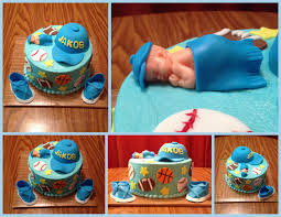 sport themed baby shower sugar lump cakes baby shower cakes 2