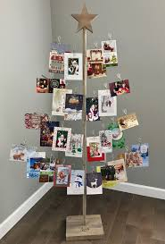 christmas card display holder birch branch card photo tree christmas card stand birch