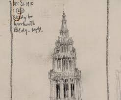 study for woolworth building new york world digital library