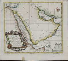 The Red Sea Map A Chart Of The Coast Of Arabia The Red Sea And Persian Gulf