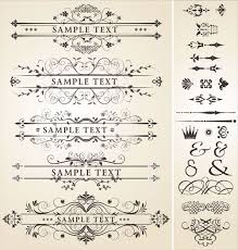 vintage royal ornaments design elements vector 04 vector frames
