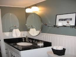bathroom decorating ideas on a budget with black accent and shower