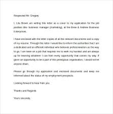 sample business cover letter template 8 download free documents