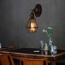 Diy Vintage Chandelier Vintage Chandelier Fixture 1 Edison Bulb Diy Rustic Wire Cage