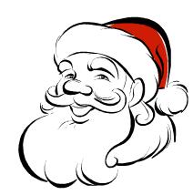 santa suit coloring page