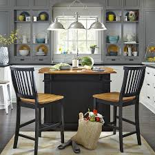 amazon com home styles 5003 948 kitchen island with stool black