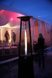 Heating Outdoor Spaces - warm your space with a patio heater that exudes romance as well as