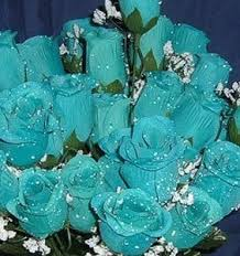 turquoise flowers buytoday 84 silk flowers w raindrops wedding flowers