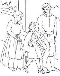 wolf hiding tree red riding hood coloring pages