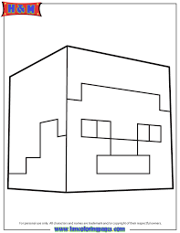 steve head coloring minecraft coloring pages