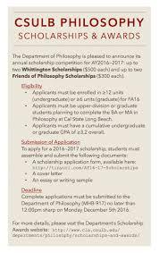 philosophy blog archive ay16 17 scholarships