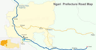 Karakorum On Map Maps Of Nagri And Prefecture Shiquanhe Restaurants Road