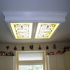 fluorescent light covers fabric kitchen lighting light collection including enchanting fluorescent
