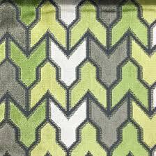 upholstery fabric rocket wheatgrass geometric pattern cut