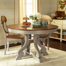 Marchella Linen Gray Round Dining Table Pier  Imports - Pier 1 kitchen table