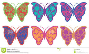 colorful fancy butterfly vector design stock vector illustration