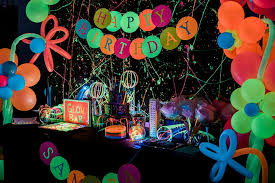 glow in the birthday party kara s party ideas neon glow birthday party kara s party ideas