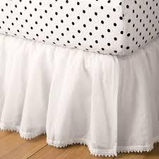 White Ruffle Bed Skirt Bohemian Bed Skirt Pbteen
