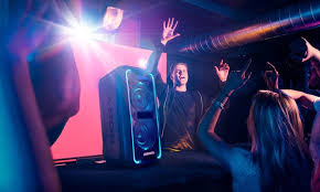 Party Speakers With Lights Sony High Powered Extra Bass Bluetooth Speaker With Party Lights