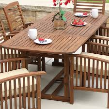 Outdoor Furniture Wood Amazon Com We Furniture Solid Acacia Wood Patio Extendable