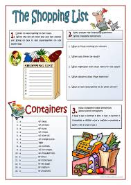 thanksgiving grocery list 27 free esl shopping list worksheets