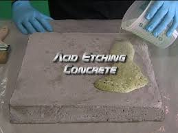 How To Clean A Concrete Patio by Acid Etching Concrete Youtube