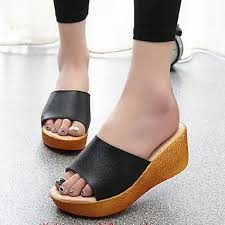 Silver Comfort Sandals Womens Shoes Patent Leather Wedge Heel Peep Toe Flip Flops