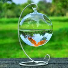 aliexpress com buy 4sets round shape hanging glass aquarium fish